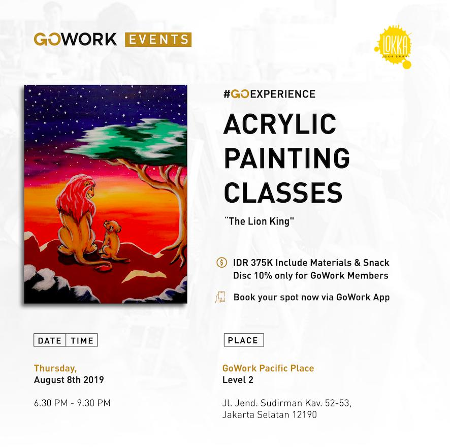 Acrylic Painting Classes : The Lion King