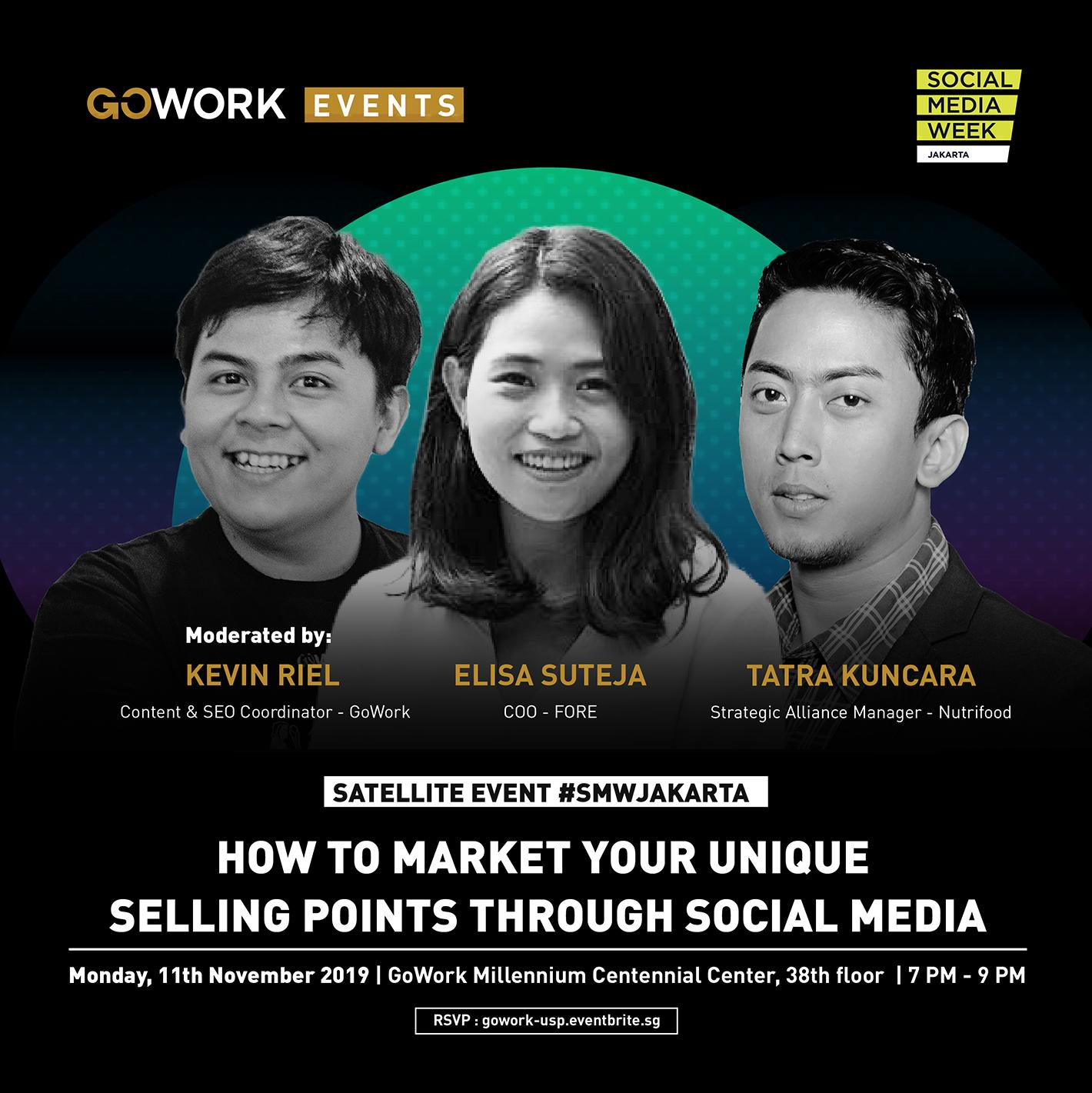 "GoWork X Social Media Week Jakarta: ""How To Market Your Unique Selling Points Through Social Media"""