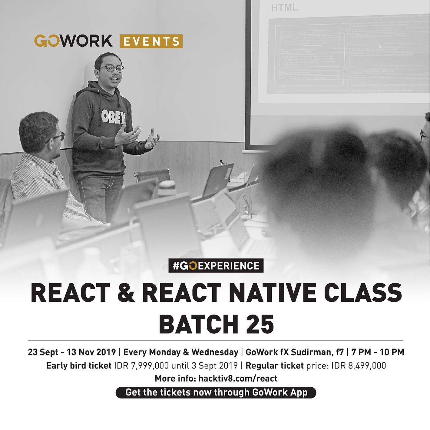 GoWork X Hacktiv8 : React & React Native Class Batch 25