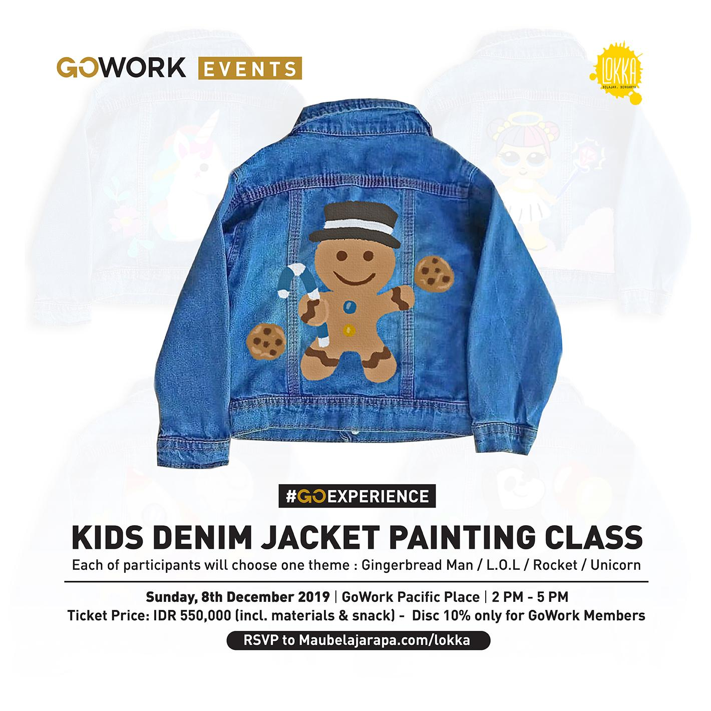 GoWork X Lokka Studio : Kids Denim Jacket Painting