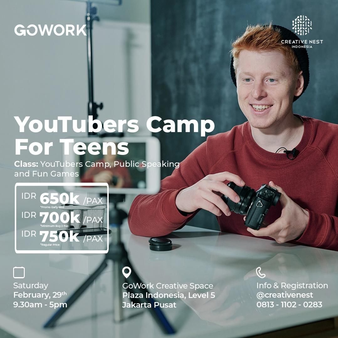 Creative Nest Indonesia : Youtubers Camp for Teens