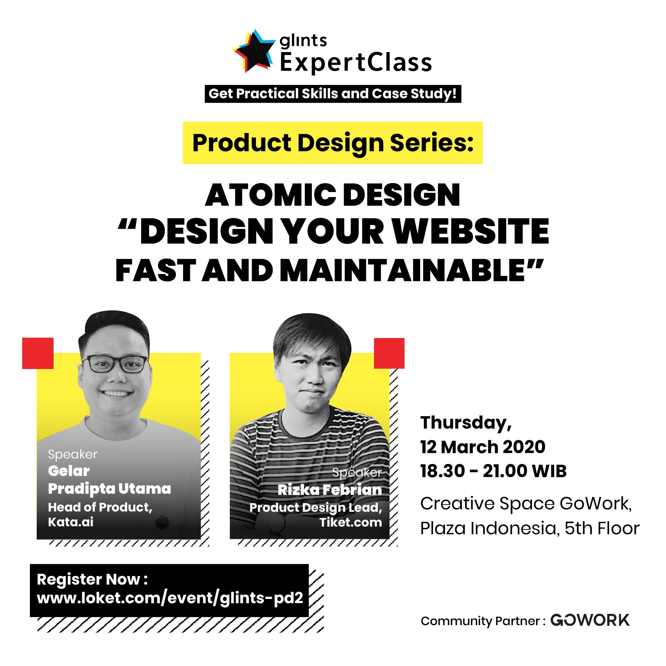 Glints Expert Class - Product Design Series : Design Your Website Fast & Maintainable