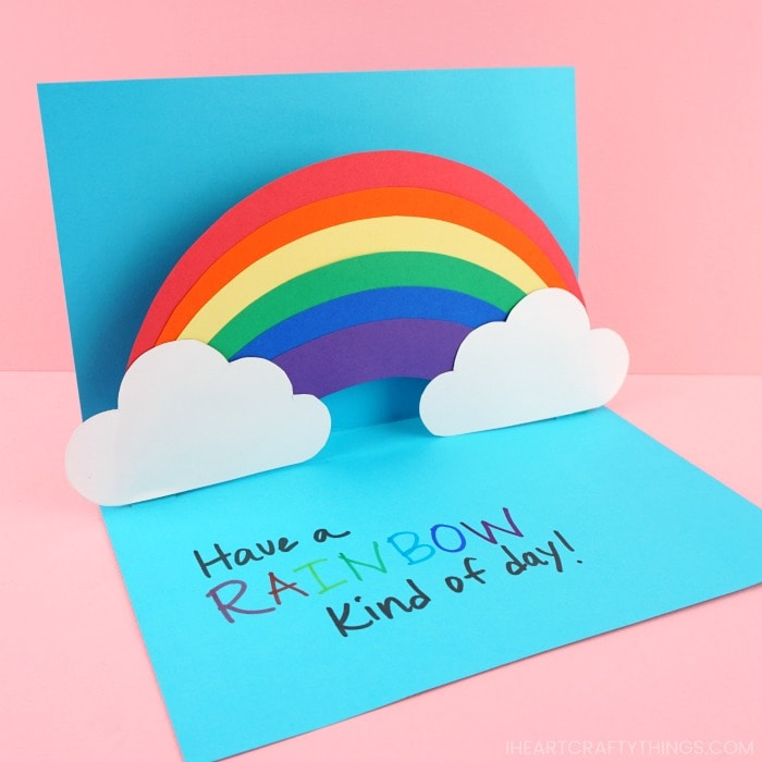 how to make an easy pop up rainbow card  ecommerce