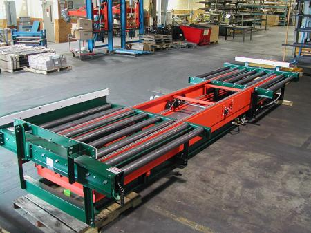 fixed drive chain driven conveyor rollers