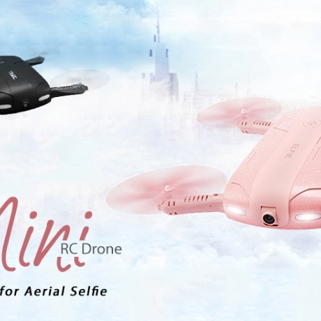 JJRC H37 ELFIE Foldable Mini RC Selfie Drone – WITH ONE BATTERY BLACK