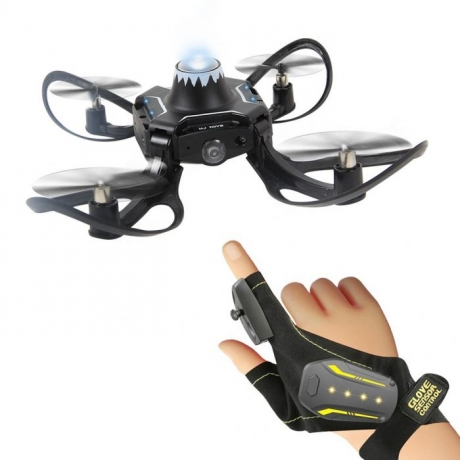 Gesture Control Drone Mini Folding Aircraft - Black