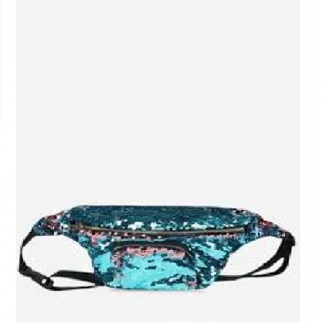 Sequined Fanny Pack - Oasis