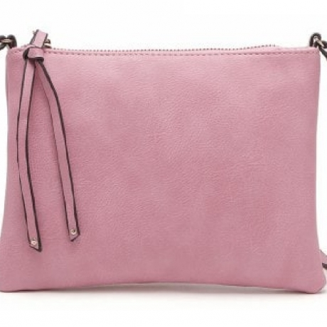 Casual Crossbody Bags for Women PU Leather Messenger Bags Female Flap Handbag - Hot Pink