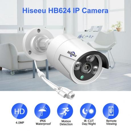 Hiseeu HB624 IP Camera - White