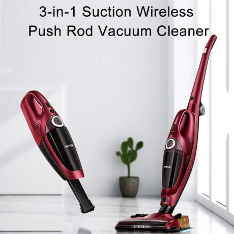 ITTAR RC16B 3-in-1 Suction Wireless Push Rod Vacuum Cleaner - Red Wine