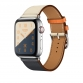 Apple Watch Hermès Stainless Steel Case with Indigo/Craie/Orange Swift Leather Single Tour Apple Watch Series 4 (GPS+ Cellular)