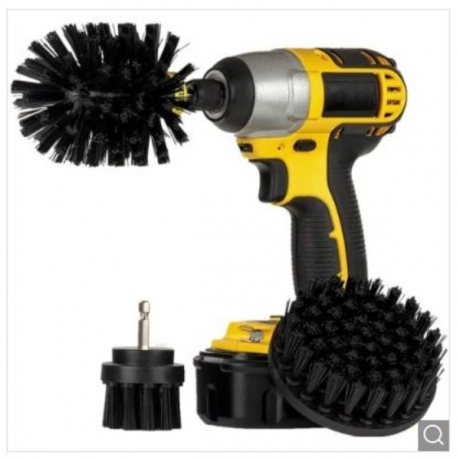 3-in-1 Electric Drill Brush Head - Black