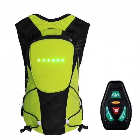 5L Turn Signal Wireless Remote Control LED Warning Light Backpack
