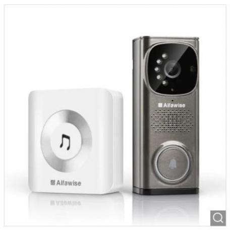Alfawise WD613 Smart Video Doorbell - Gray EU Plug