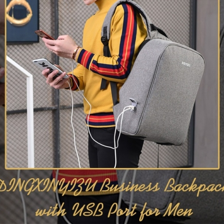 DINGXINYIZU Business Backpack with USB Port for Men