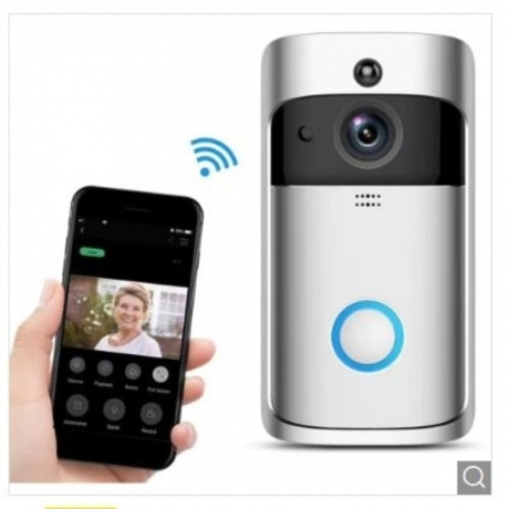 Smart Video Doorbell Wireless Home for iOS/Android - Carbon Fiber Black