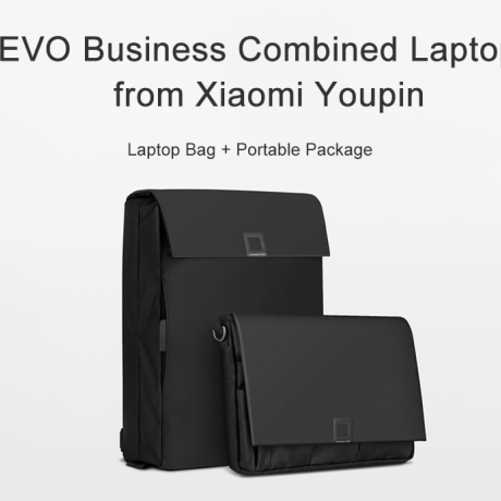 UREVO Business Combined Laptop Bag from Xiaomi Youpin - Black Shoulder Bag