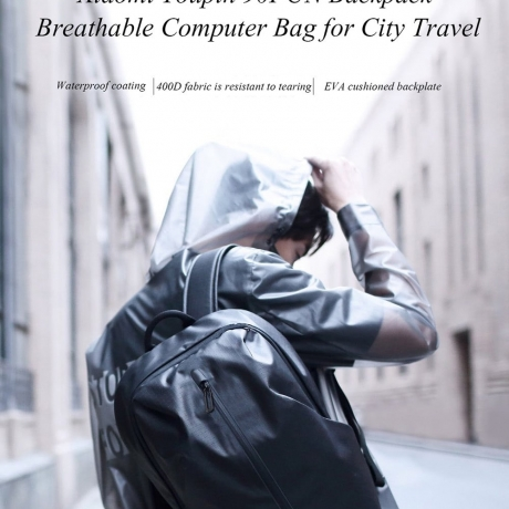Xiaomi Youpin 90FUN Backpack Breathable Computer Bag for City Travel - Black