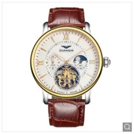 GUANQIN GJ16036 Men's Fashion Trend Automatic Mechanical Watch - Gold