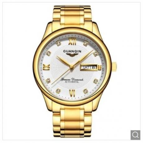 GUANQIN GJ16050 Men's Automatic Mechanical Steel Waterproof Watch - Rose Gold