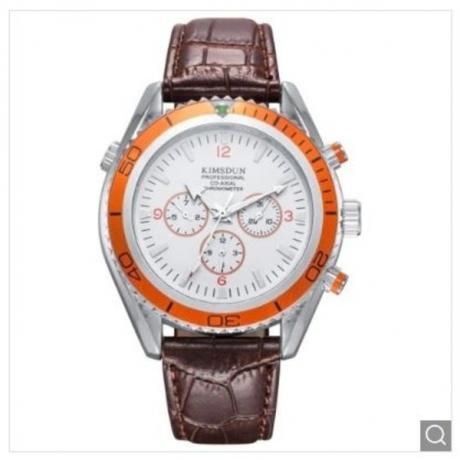 KIMSDUN K - 814D Waterproof Male Automatic Mechanical Watch - White Orange Case