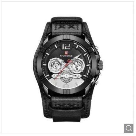 NAFIFORCE 9162 Men's Fashion Sports Waterproof Six-pin Quartz Watch - Black