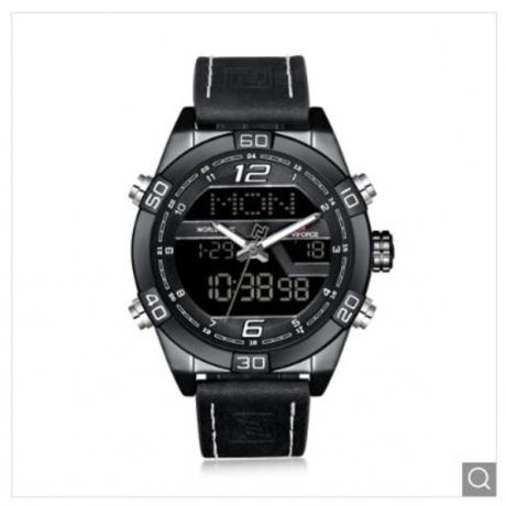 NAVIFORCE Luxury Brand Men Fashion Sports WristWatches - Black