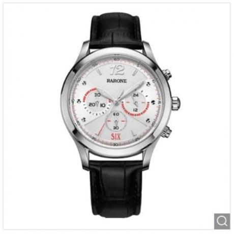 Rarone 316L Stainless Steel Chronograph Sport Watch Men Wrist - Black 1pc