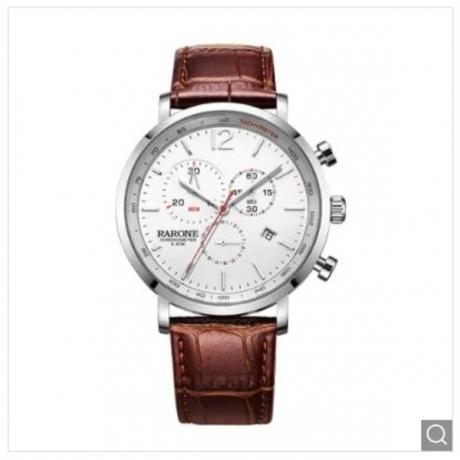 RARONE Waterproof Sport Quartz Men Wrist Watch - Brown 1pc
