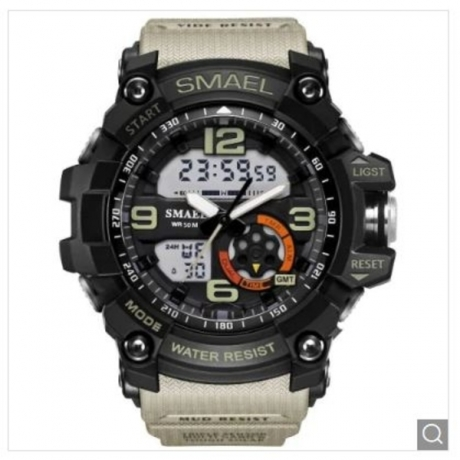 SMAEL Men's Analog Digtal Sport Wrist Watch - Multi-I