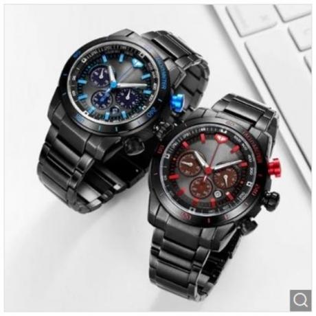 TwentySeventeen Light Kinetic Energy Watch from Xiaomi Youpin - Dodger Blue