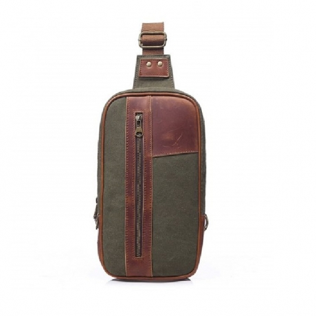 GFAVOR New Canvas Large Capacity Chest Bag - Ash Gray