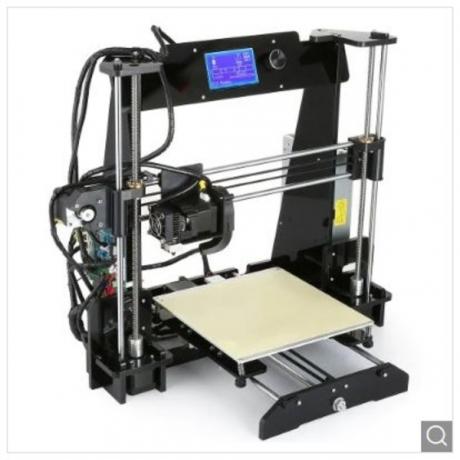 Alfawise EX8 Upgraded DIY 3D Printer - Black US Plug (2-pin)