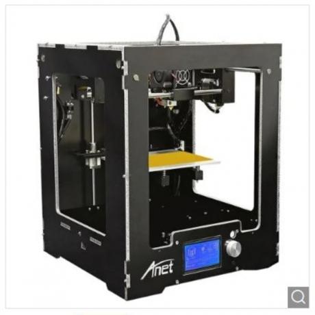 Anet A3 Full Aluminum Plastic Frame Assembled 3D Printer - Black EU Plug