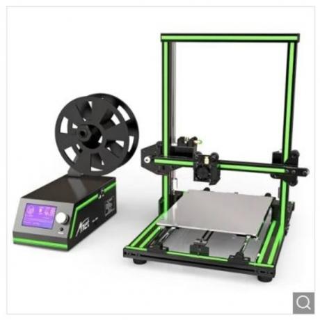 Anet E10 Aluminum Frame Multi-language 3D Printer DIY Kit - Green US