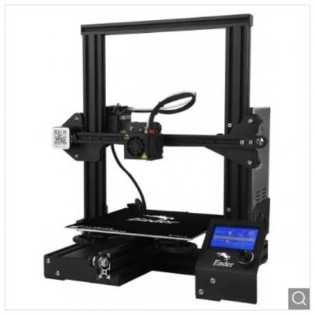 Creality 3D Ender-3 V-slot Prusa I3 DIY 3D Printer Kit 220 x 220 x 250mm Printing Size - Black EU Plug