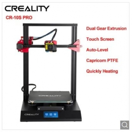 Creality 3D Printer CR10S Pro Auto Leveling Touch Screen Capricorn PTFE Bondtech Extruder Gears - EU Warehouse