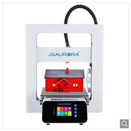 JGAURORA A3S Fully Metal LCD Display Control DIY 3D Printer - Natural White EU Plug