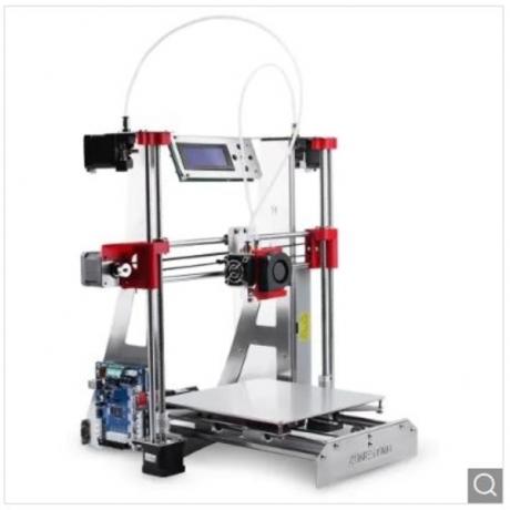 Zonestar P802QR2 Double Extruders 3D Printer DIY Kit - Silver US Plug