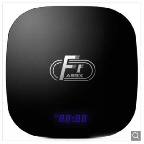 A95X F1 Smart TV Box 2GB RAM + 16GB ROM - Black US Plug