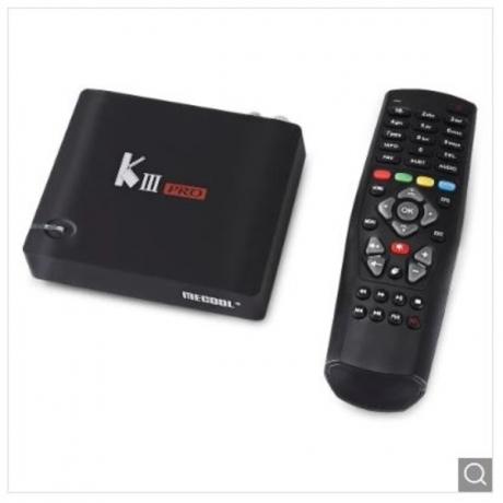 MECOOL KIII PRO Hybrid DVB TV Box 3GB DDR3 + 16GB EMMC - Black US Plug