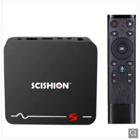 SCISHION Model S Voice Remote TV Box - Black UK Plug