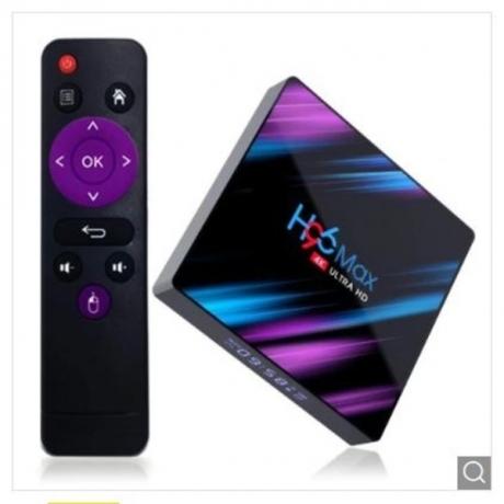 H96 Max 3318 TV Box Android 9.0 - Black 2GB RAM+16GB ROM US Plug