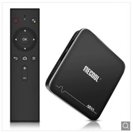 MECOOL M8S PRO+ TV Box with Voice Remote Control - Black UK Plug