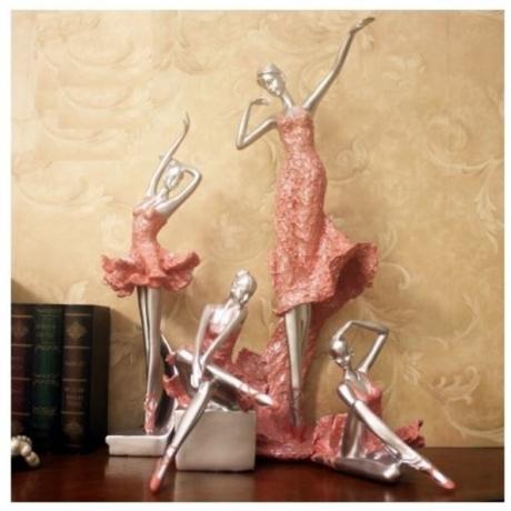 1pc Ballerina Modern Ballerina Dancing Girl Statue Home Decoration Souvenir Birthday Gift Christmas Gift Holida Gift Free Ship