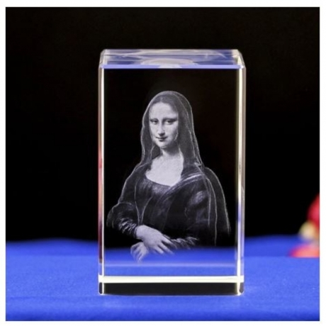 80mm Mona Lisa's Smile White Crystal Statue Crafts Fengshui Jewelry Decoration Home Wedding Party Decorative Gift Souvenirs
