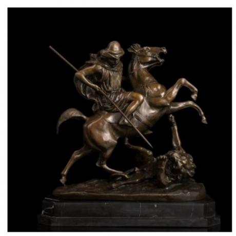 Arts Crafts Copper Top Quality Bronze Sculpture Roman warriors statues metal art decor bronze statue souvenirs DRAGON SLAYER