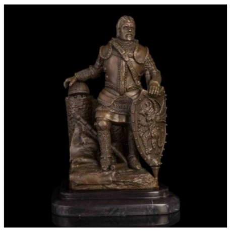 ATLIE BRONZES Medieval Ancient Rome Soldier Statues National Protection Army Warrior Sculptures Figurines Souvenirs Gift