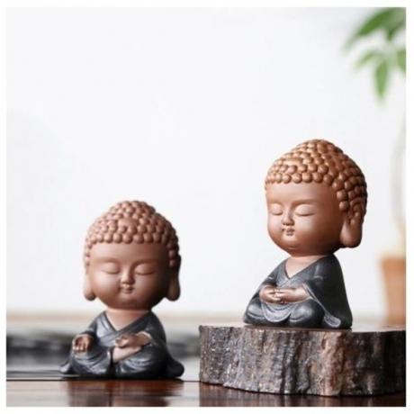 Auspicious Buddha Statue Office Tea Ceremony Accessories Decoration Tea Pet Boutique Ar Ornament Crafts Souvenir Creative Gifts