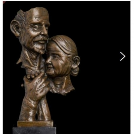 Brass Asian Elaborate Old crafts copper sculpture Home Furnishing Golden wedding gifts souvenir Auspicious Statue